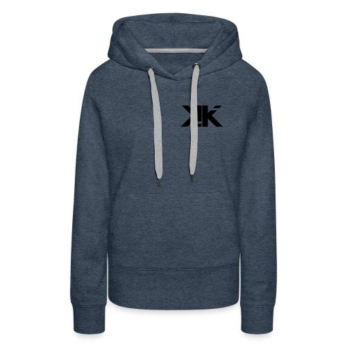 KennyK Logo Schwarz - Frauen Premium Hoodie