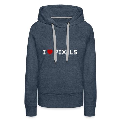 I Love Pixels - Dame Premium hættetrøje