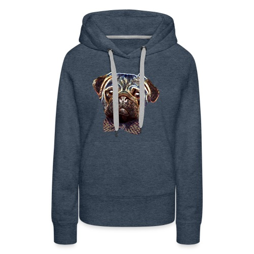 Pug with bow tie - Women's Premium Hoodie