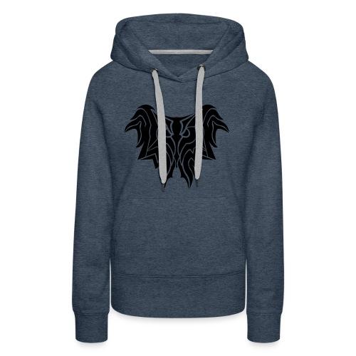 Insane Reactionz Logo Schwarz - Frauen Premium Hoodie