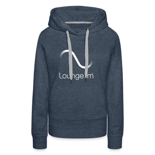 loungefm logo weiss - Frauen Premium Hoodie