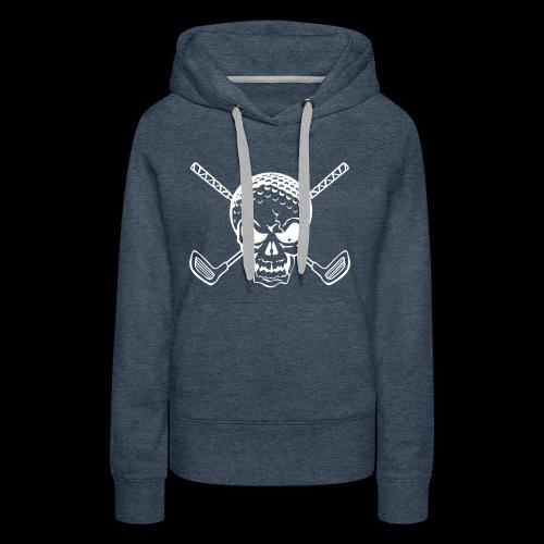 Schwarzlicht Semester Totenkopf Weiss - Frauen Premium Hoodie