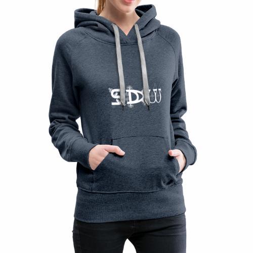 SDW Logo Weiss - Frauen Premium Hoodie