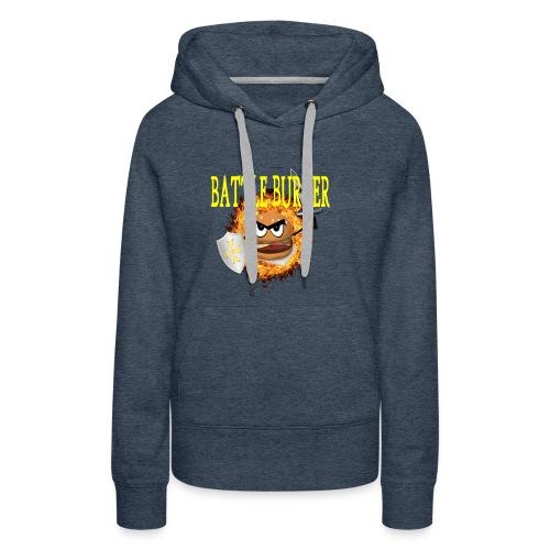Battle_Burger - Sudadera con capucha premium para mujer