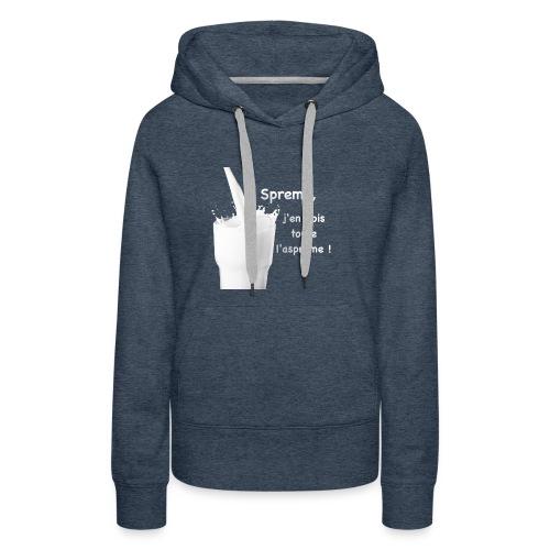 Logo Sprème - Sweat-shirt à capuche Premium pour femmes
