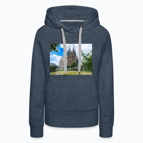 Camisa de la sagrada família - Sudadera con capucha premium para mujer