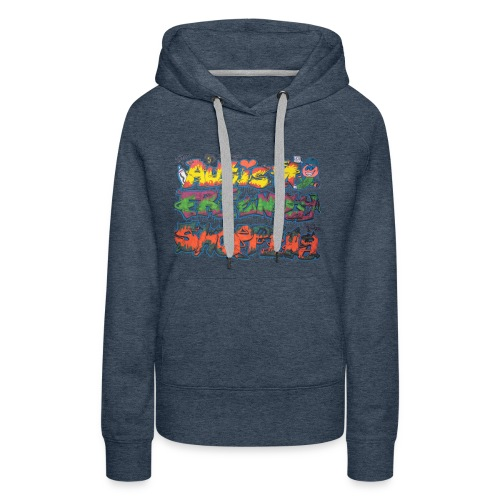Autism Friendly Shopping Graffiti Style - Women's Premium Hoodie
