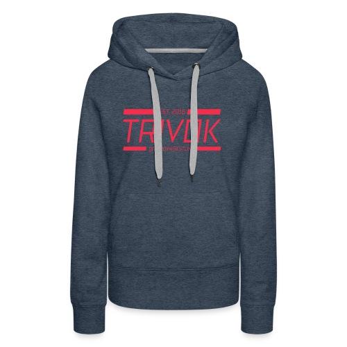 Trivok Rojo - Sudadera con capucha premium para mujer