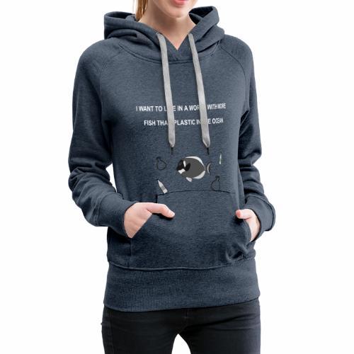 Less plastic - Frauen Premium Hoodie