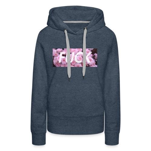 Fvck Floral design - Sudadera con capucha premium para mujer