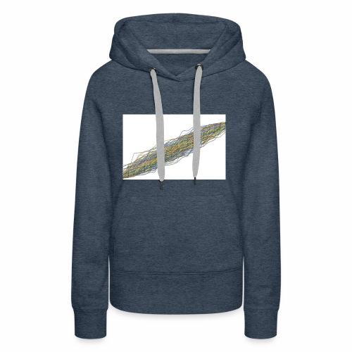 Line Chart - Vrouwen Premium hoodie