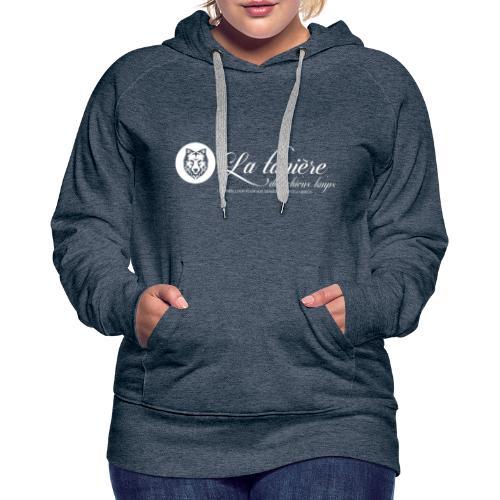 La Tanière des Chiens-Loups (logo plus grand) - Sweat-shirt à capuche Premium pour femmes