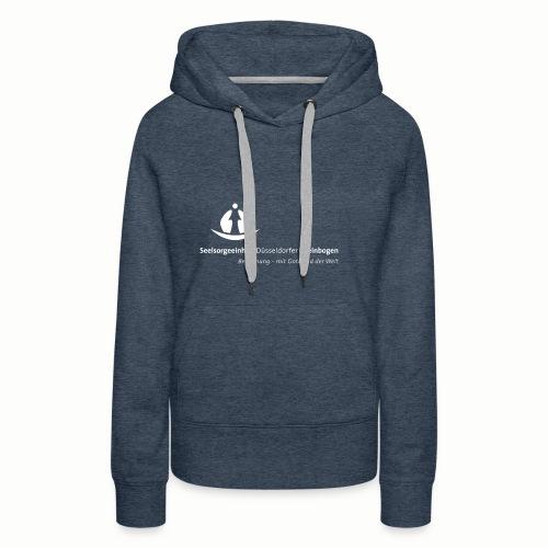SDR LogoClaim l 1c weiss - Frauen Premium Hoodie