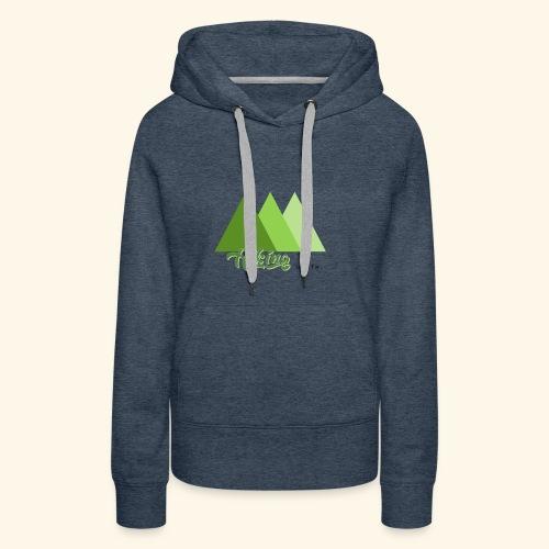 hiking - Sweat-shirt à capuche Premium pour femmes