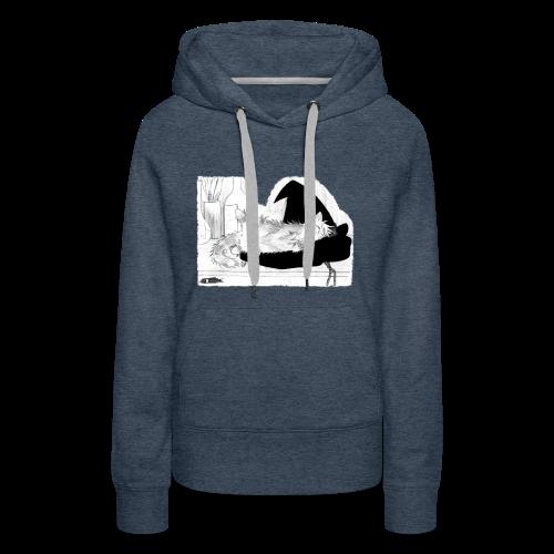 Tyrrin Hexenkater auf Hut (grau) - Frauen Premium Hoodie