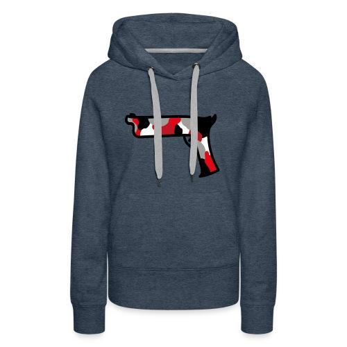 strijdR T-shirt pistol black - Vrouwen Premium hoodie