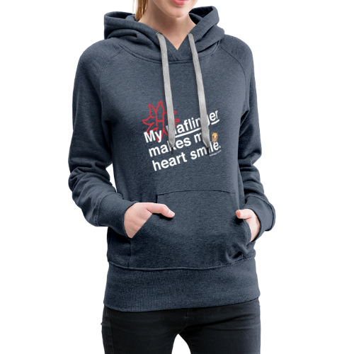 Haflinger Heart Smile - Blau - Frauen Premium Hoodie