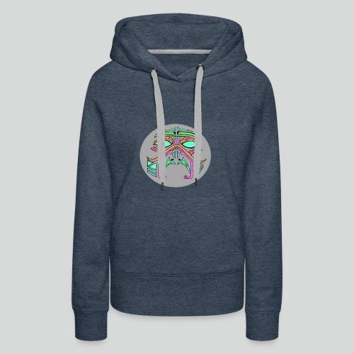 mask multicolor - Sweat-shirt à capuche Premium pour femmes