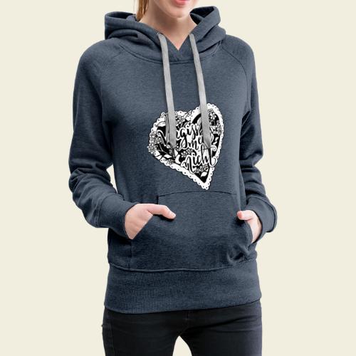 Vergissmeinnicht-Herz mit weißem Hintergrund - Frauen Premium Hoodie