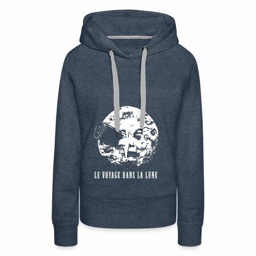 Le Voyage dans la lune - Felpa con cappuccio premium da donna