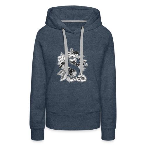 Black flowers s - Vrouwen Premium hoodie