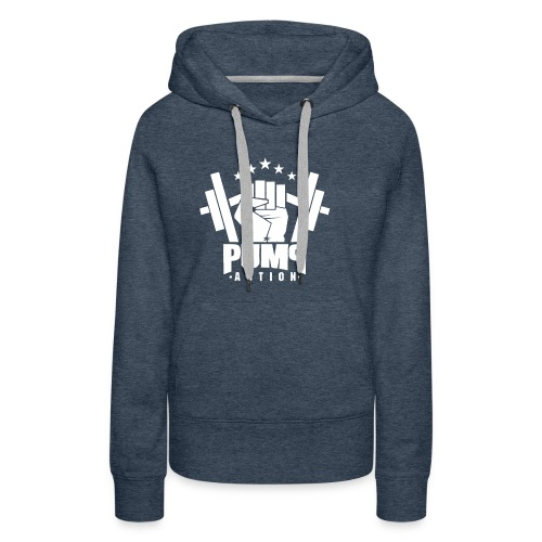 PUMP-ACTION LOGO WHITE - Frauen Premium Hoodie