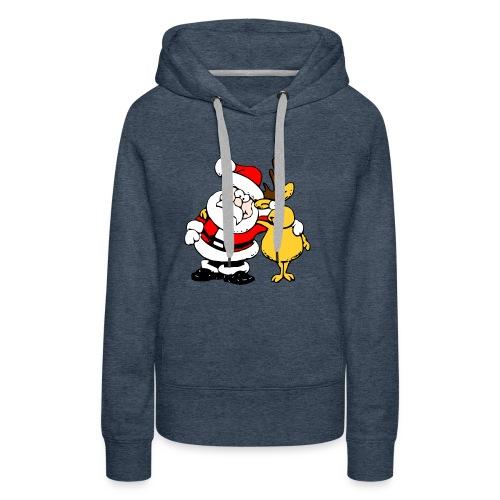 Santa and Reindeer - Women's Premium Hoodie