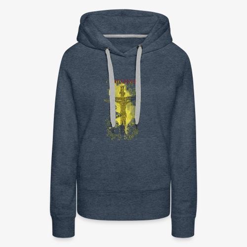 I believe / wierzę (yellow-żółty) - Bluza damska Premium z kapturem