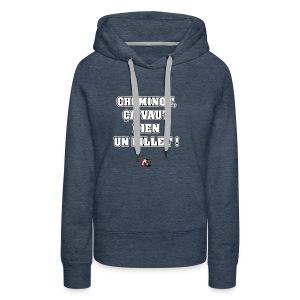 CHEMINOT, ÇA VAUT BIEN UN BILLET ! - JEUX DE MOTS - Sweat-shirt à capuche Premium pour femmes