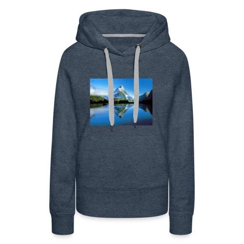 paysages de reve 05 - Sweat-shirt à capuche Premium pour femmes
