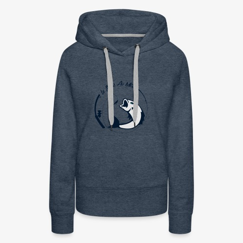 logo le bar au metre fond transparent - Sweat-shirt à capuche Premium pour femmes