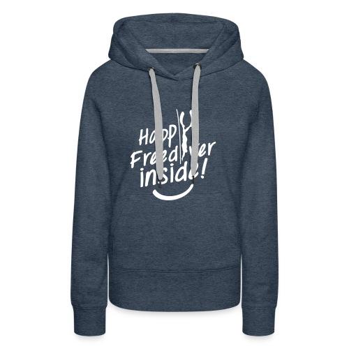HappyFreediverInside - Sweat-shirt à capuche Premium pour femmes