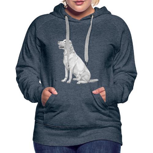 labrador Retriever Gul - Dame Premium hættetrøje
