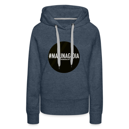 Black Circle - Felpa con cappuccio premium da donna