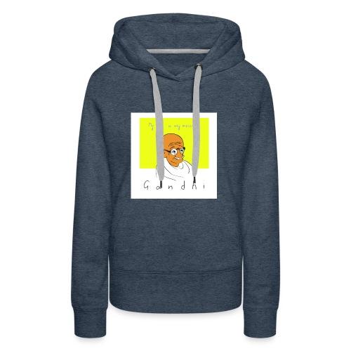 Gandhi - Frauen Premium Hoodie