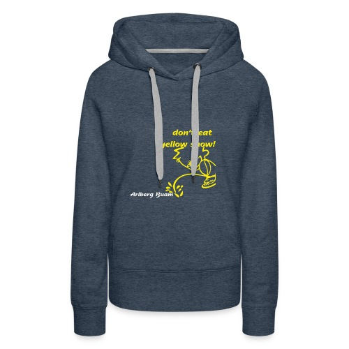 yellow snow - Frauen Premium Hoodie