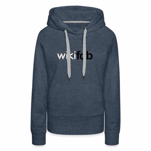 Original Logo - Sweat-shirt à capuche Premium pour femmes