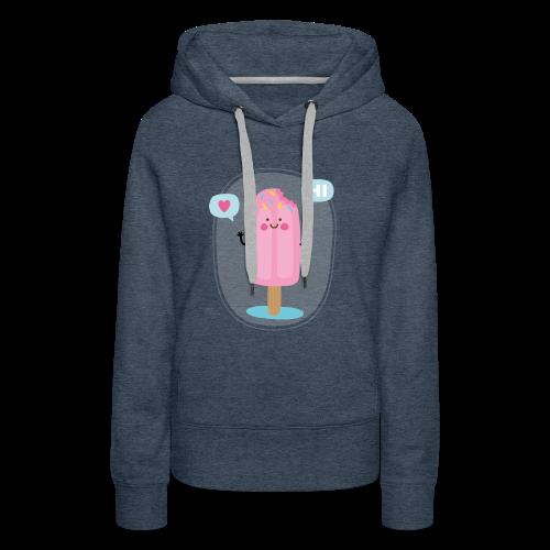 Pink Ice creem - Sweat-shirt à capuche Premium pour femmes