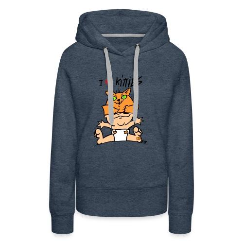 baby i love kitties color - Vrouwen Premium hoodie