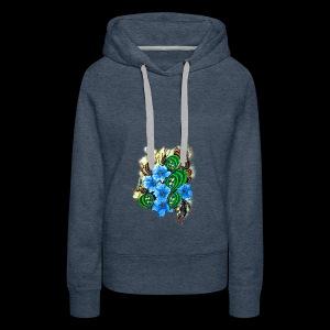abstract flowers - Women's Premium Hoodie