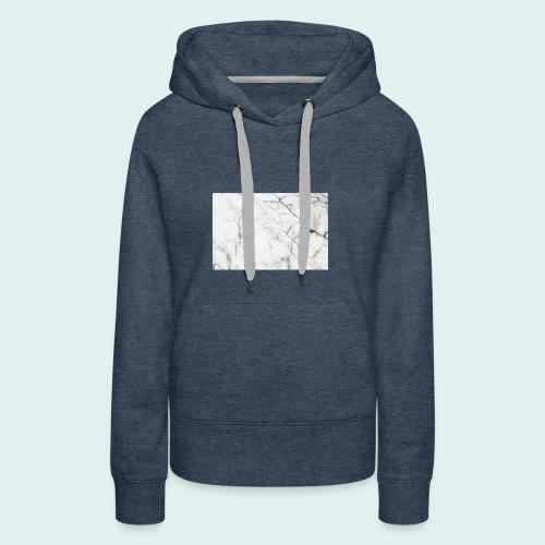 pull marbré - Sweat-shirt à capuche Premium pour femmes