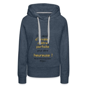 t-shirt_happy_orange - Sweat-shirt à capuche Premium pour femmes