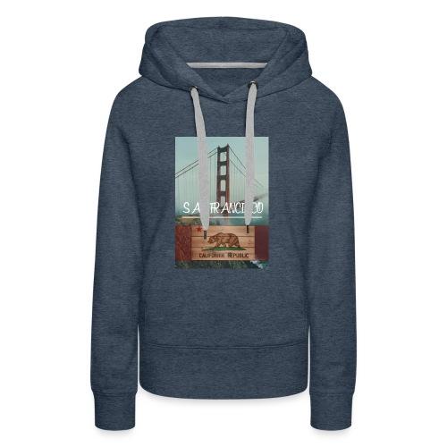 SAN_FRANCISCO - Sudadera con capucha premium para mujer