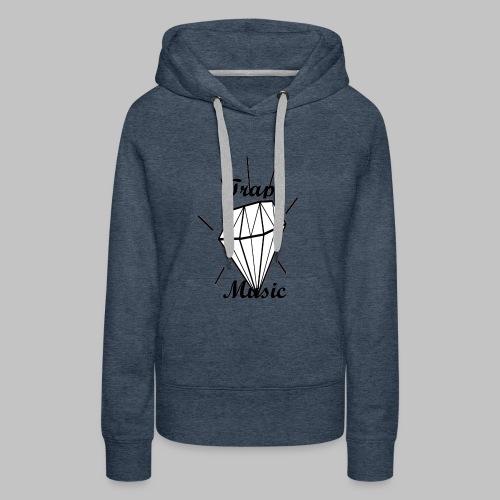 T-shirt Trap Music Genus - Felpa con cappuccio premium da donna