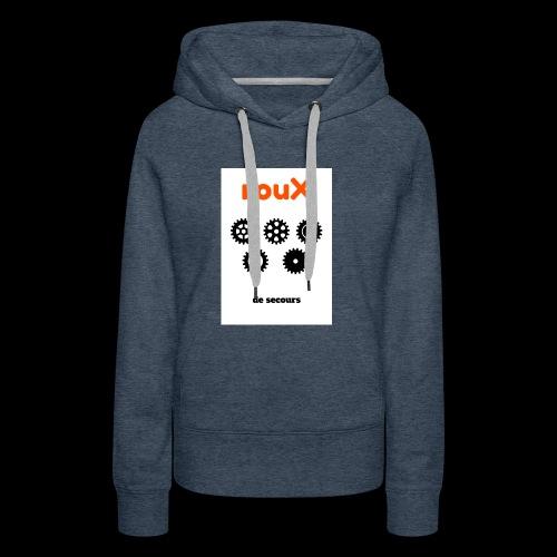 Roux 1 - Sweat-shirt à capuche Premium pour femmes