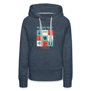 Rauh Welt France color - Sweat-shirt à capuche Premium pour femmes
