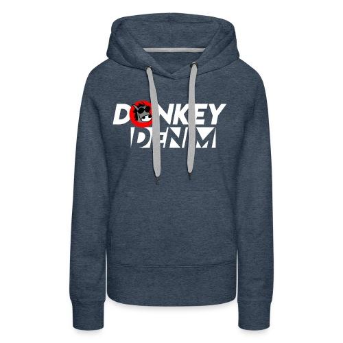 Donkey Denim Invert Logo - Frauen Premium Hoodie