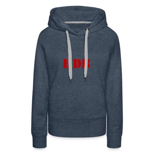 HDB Mok binnenkant rood - Vrouwen Premium hoodie