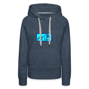 AtoB Logo light blue - Women's Premium Hoodie