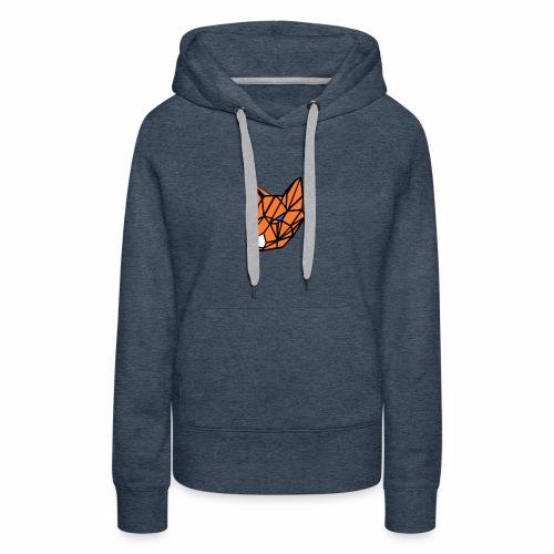 renard geometrique - Sweat-shirt à capuche Premium pour femmes